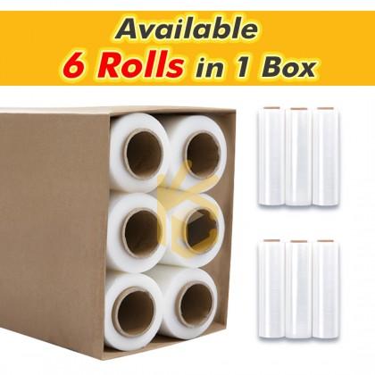 23 Micron Transparent Stretch Film 2.80kg (2.6 kg nett film) x 500mm - 6 Rolls/Box