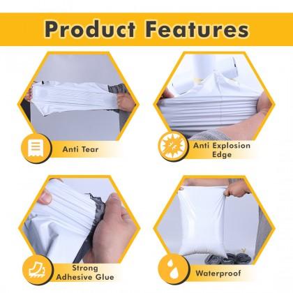 CB4-WT(P) 35cm*49cm Simple White Courier Bag With Pocket - 700 Pcs/Box