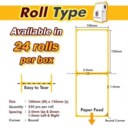 Roll Thermal Sticker Waybill - 24 Rolls/Box (350 Pcs/Roll)