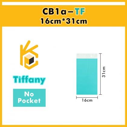 CB1a-TF 16cm*31cm Tiffany Blue Courier Bag No Pocket - 2500 Pcs/Box