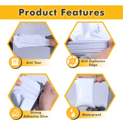 CB1b-YL(P) 20cm*35cm Yellow Packman Courier Bag With Pocket - 1400 Pcs/Box